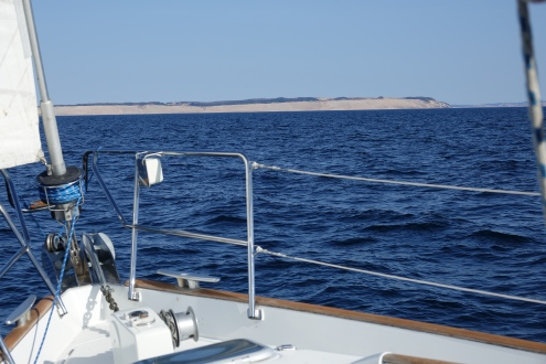 approaching south manitou sand dunes