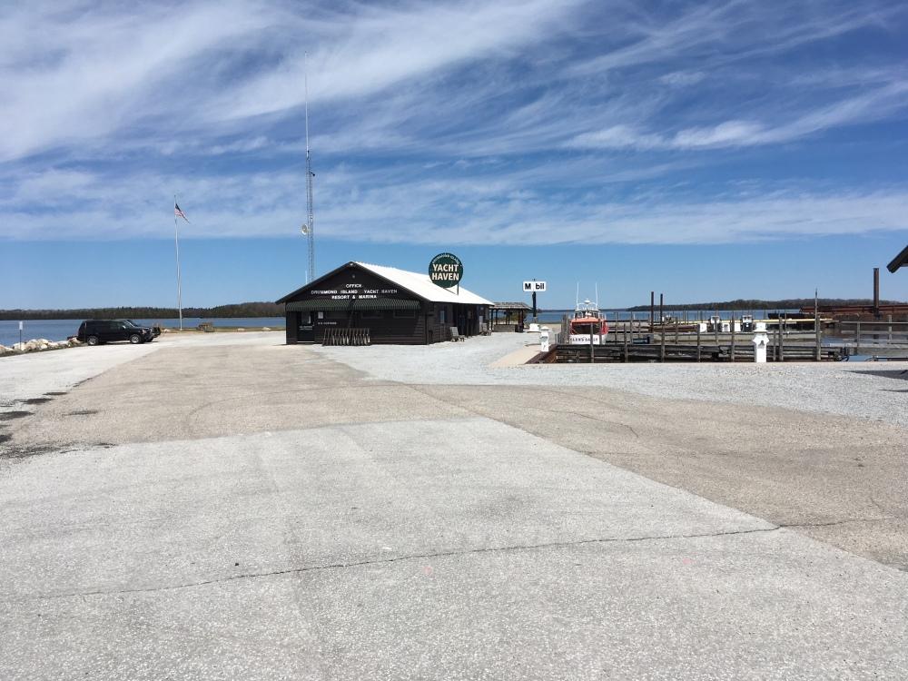 yacht haven parking lot